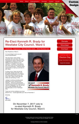 Re-Elect Kenneth R. Brady for Westlake City Council, Ward 5