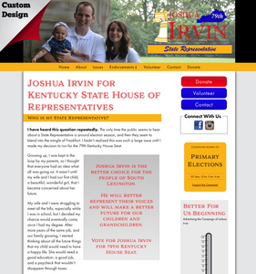 Joshua Irvin for Kentucky State House of Representatives