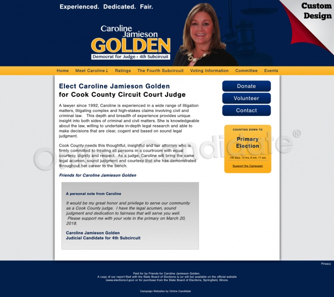 Caroline Jamieson Golden for Cook County Circuit Court Judge