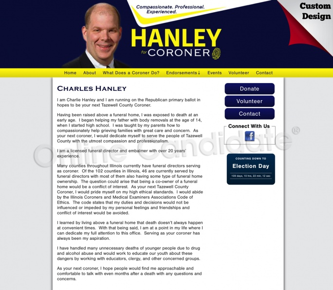 Charlie Hanley for Tazewell County Coroner