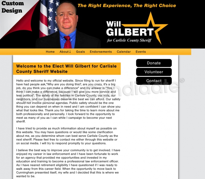 Elect Will Gilbert for Carlisle County Sheriff Website