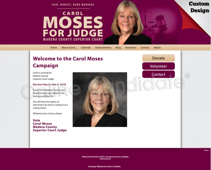 Carol Moses for Judge