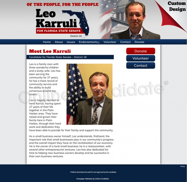 Leo Karruli for Florida State Senate - District 16