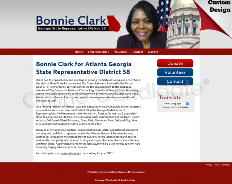 Bonnie Clark for Atlanta Georgia State Representative District 58