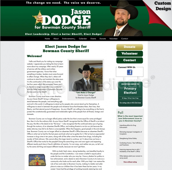 Jason Dodge for Bowman County Sheriff