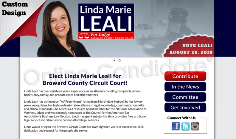 Linda Marie Leali for Broward County Circuit Court!