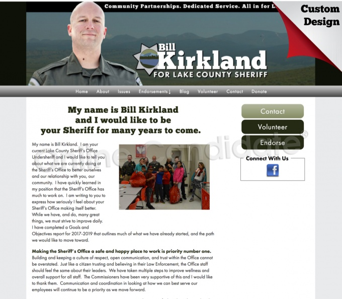 Bill Kirkland for Sheriff